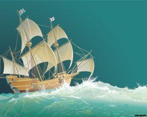 Barco de Guerra PPT PPT Template