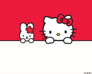 Plantilla de Hello Kitty PPT Template