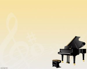Plantilla PowerPoint Piano PPT Template