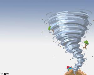 Tornado Plantilla PowerPoint PPT Template