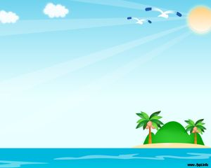 Plantilla PowerPoint de Playa PPT Template