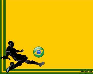 Fútbol de Brasil Plantilla PowerPoint PPT Template
