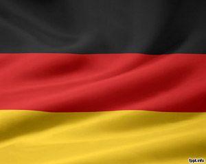 Bandera de Alemania Plantilla PowerPoint PPT Template