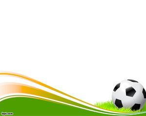 Plantilla PowerPoint de Pelota de Fútbol