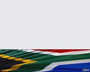 Bandera de Sudáfrica Plantilla PowerPoint PPT Template