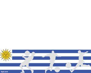 Fútbol Uruguayo Plantilla PowerPoint PPT Template