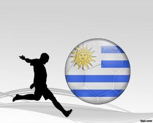 Fútbol de Uruguay Plantilla PowerPoint