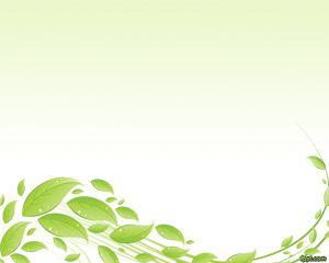 Plantilla PowerPoint con Hojas Verdes