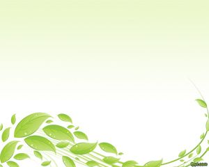 Plantilla PowerPoint con Hojas Verdes PPT Template