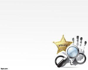Policía Plantilla PowerPoint PPT Template