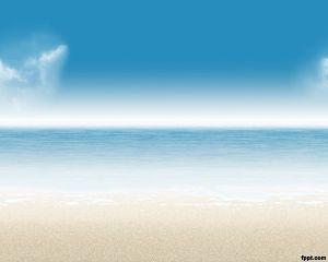 Beach PowerPoint Template Background