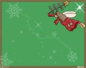 Ángel de Navidad Plantilla PowerPoint