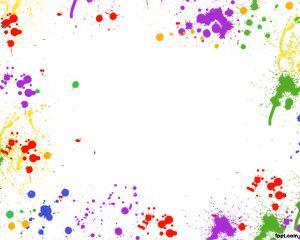 Plantilla PowerPoint con Manchas de colores