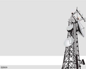 Antenas de Comunicación Plantilla PowerPoint PPT Template
