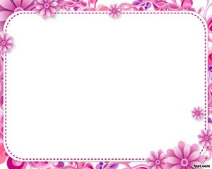 Plantilla con Marco Floral para PowerPoint PPT Template