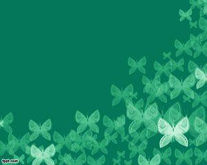 Plantilla PowerPoint Verde con Mariposas PPT Template