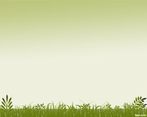 Grass Background PowerPoint Template PPT Template