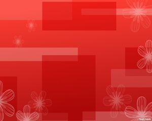 Plantilla PowerPoint Rojo con Flores y Colorido