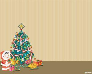Árbol de Navidad Plantilla PowerPoint