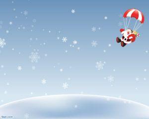 Cielo de Navidad PowerPoint PPT Template