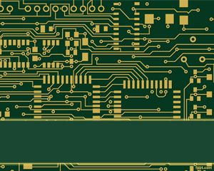 Plantilla PowerPoint de Circuito Electrónico PPT Template