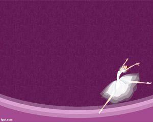 Bailarina de Ballet Plantilla PowerPoint PPT Template