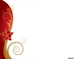 Plantilla PowerPoint con Flor roja PPT Template