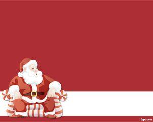 Imagen de Papa Noel para PowerPoint PPT Template