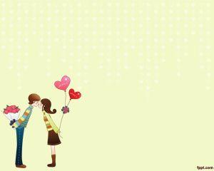 Plantilla Amor de Adolescentes PowerPoint