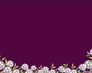 Flores Japonesas Plantilla PowerPoint PPT Template