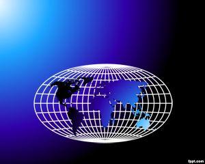 Plantilla PowerPoint de Mapa del Mundo PPT Template