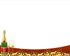 Plantilla PowerPoint Champagne