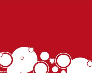 Red Circles PowerPoint Template PPT Template