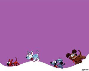 Plantilla PowerPoint de Perros color violeta PPT Template
