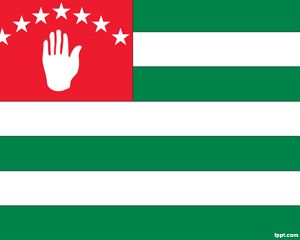 Bandera de Abjasia PowerPoint PPT Template