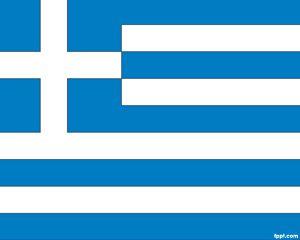 Bandera de Grecia PowerPoint PPT Template