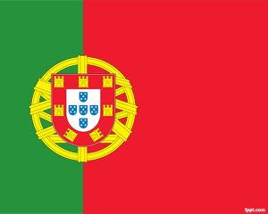 Bandera de Portugal PowerPoint PPT Template