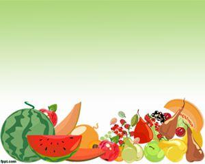 Plantilla PowerPoint con Imágenes de Frutas PPT Template