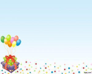 Globos de Cumpleaños Plantilla PowerPoint