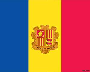 Bandera de Andorra PPT PPT Template