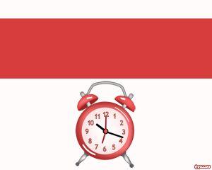 Desk Clock PowerPoint Template PPT Template
