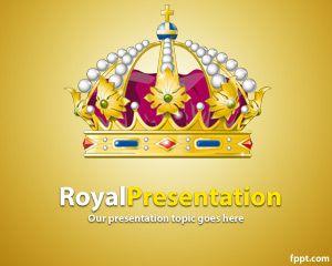 Plantilla PowerPoint de la Realeza PPT Template