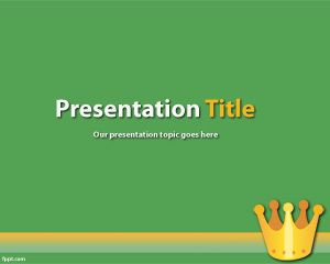 Plantilla PowerPoint de Rey PPT Template