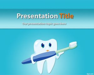 Plantilla PowerPoint de Odontología Estética PPT Template