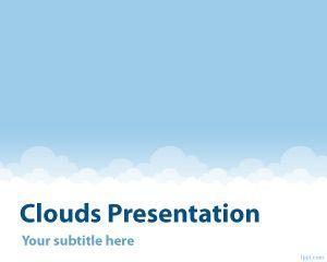 Plantilla PowerPoint con Nubes