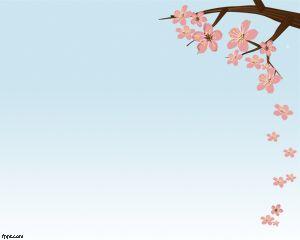 Plantilla PowerPoint de Flor de Cerezos PPT Template