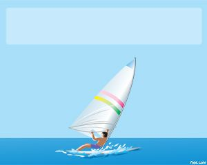 Plantilla PowerPoint de Windsurf PPT Template