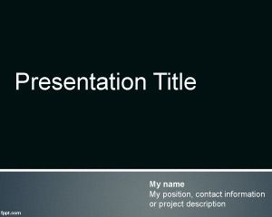Template for PowerPoint PPT Template