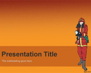 Plantilla PowerPoint de Bombero