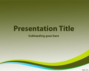 Dark Green Background for PowerPoint PPT Template